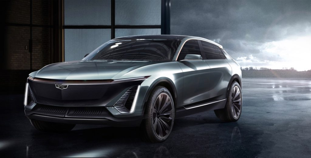 Cadillac electric crossover Teaser