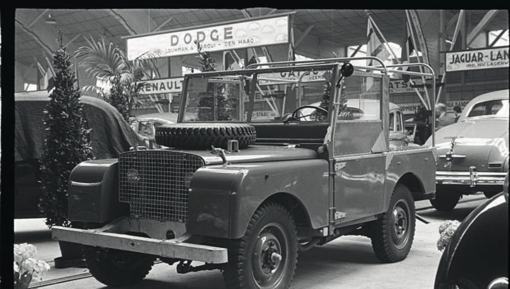 Land Rover at the 1948 Amsterdam Motor Show