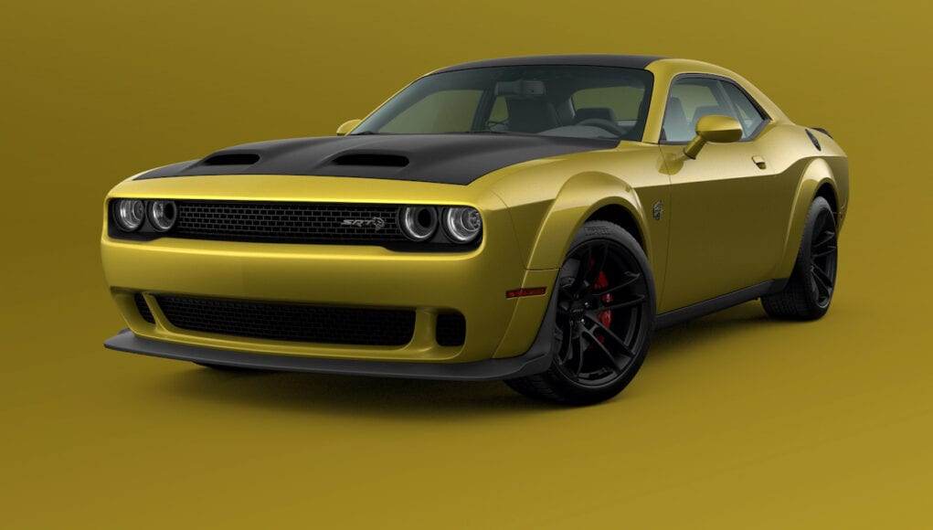 2021 Dodge Challenger SRT Hellcat Widebody in Gold Rush