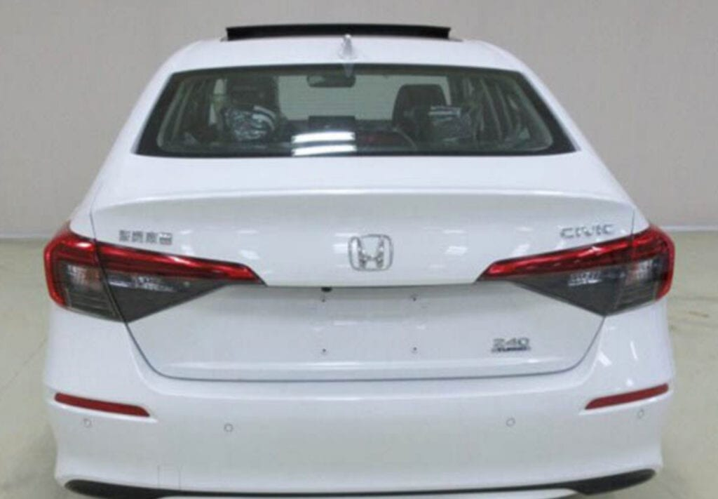 2022 Honda Civic Sedan Leak